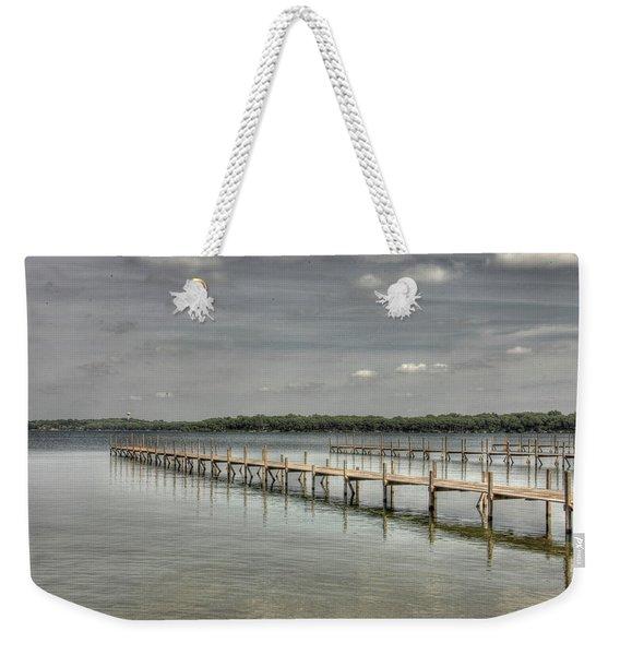 West Lake Docks Weekender Tote Bag