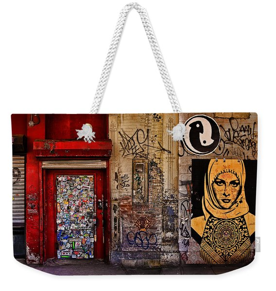 West Village Wall Nyc Weekender Tote Bag