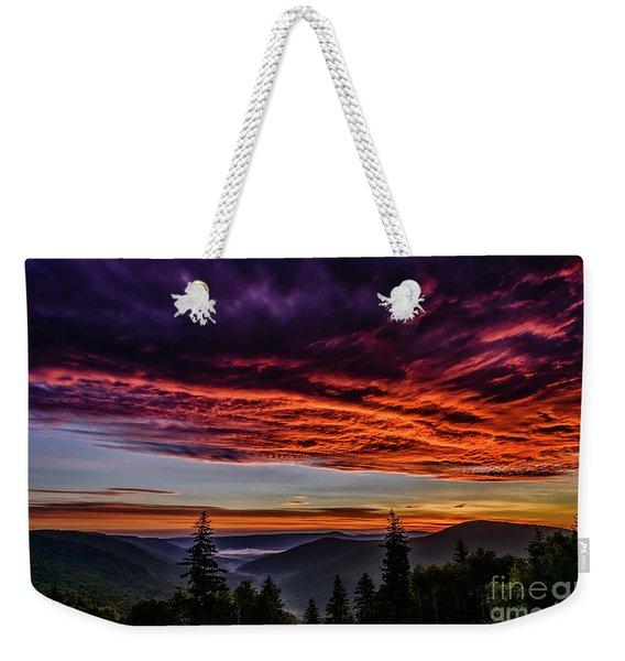 West Virginia Highland Dawn Weekender Tote Bag