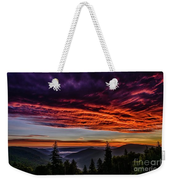 West Virginia Highland Dawn Weekender Tote Bag