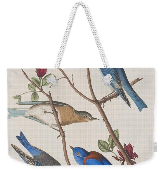 Western Blue-bird Weekender Tote Bag