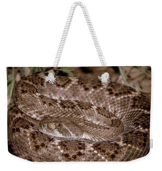 Western Diamondback Rattlesnake Weekender Tote Bag