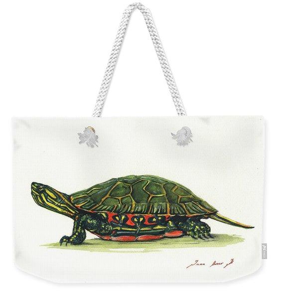 Western Painted Tortoise Weekender Tote Bag
