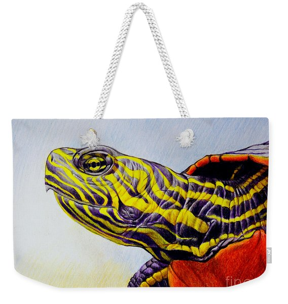 Western Painted Turtle Weekender Tote Bag
