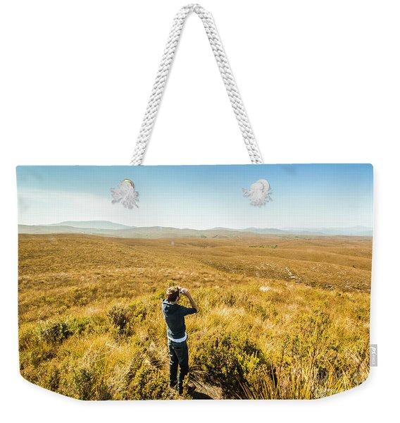 Western Plains Of Tasmania Weekender Tote Bag