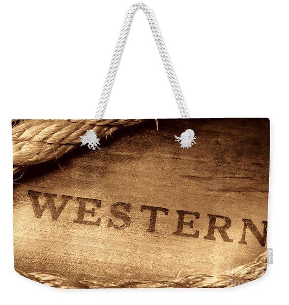 Western Stamp Branding Weekender Tote Bag