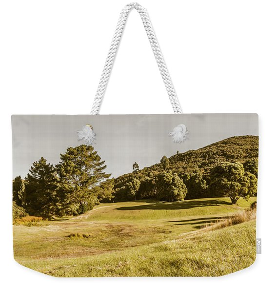 Western Tasmania Grassland Panorama Weekender Tote Bag