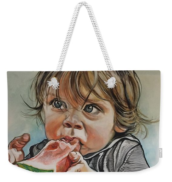 Westy And The Watermelon Weekender Tote Bag