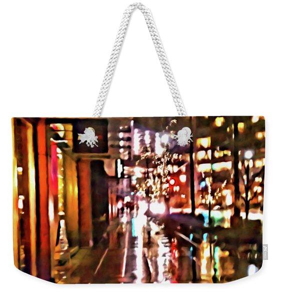 Westlake Rain Weekender Tote Bag
