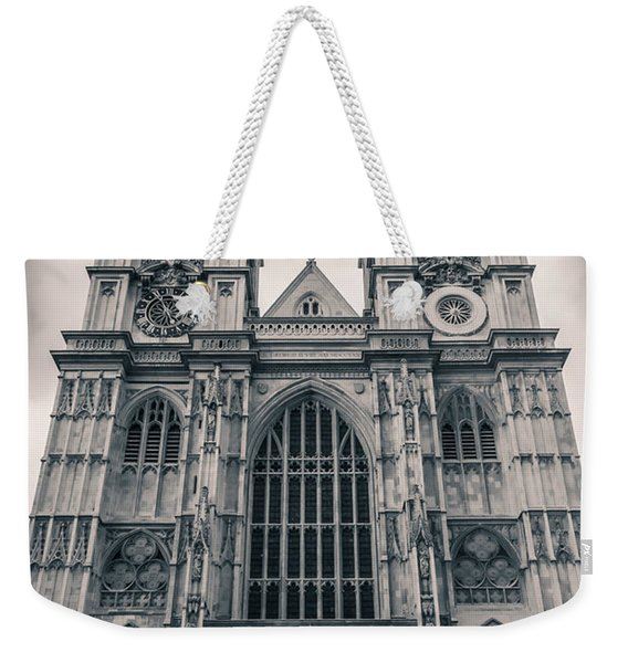 Westminister Abbey Bw Weekender Tote Bag