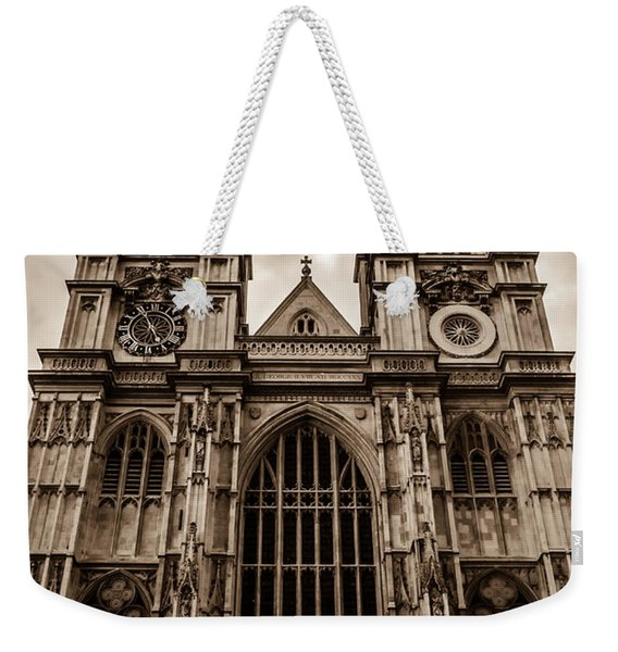 Westminister Abbey Sepia Weekender Tote Bag