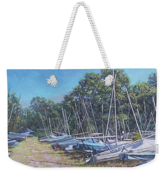Weston Shore Boats At Yacht Club, Southampton Weekender Tote Bag