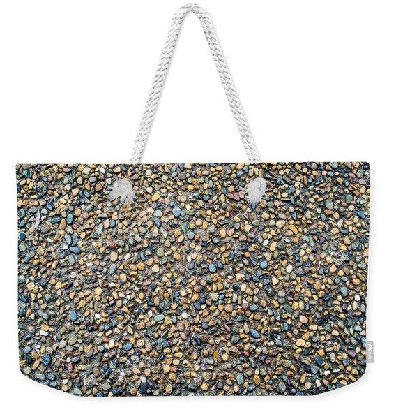 Wet Beach Stones Weekender Tote Bag