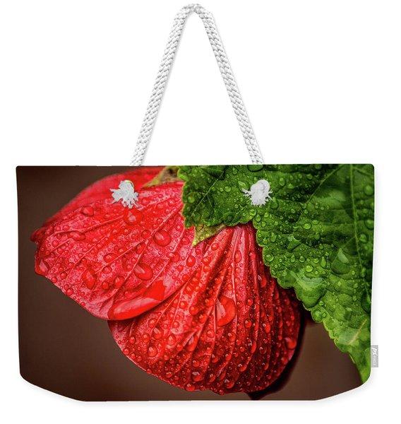 Wet Flower-abutilon Weekender Tote Bag