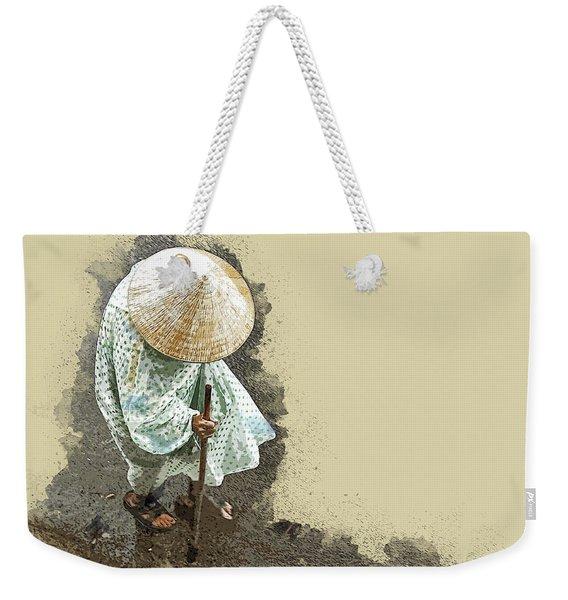 Wet Walk Home Weekender Tote Bag