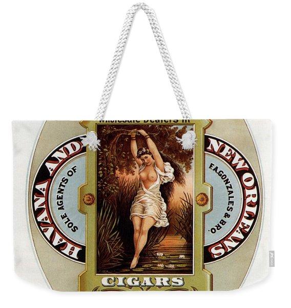 W.f.bemis And Co - Tivoli Garden Cigar Store - Vintage Advertising Poster Weekender Tote Bag