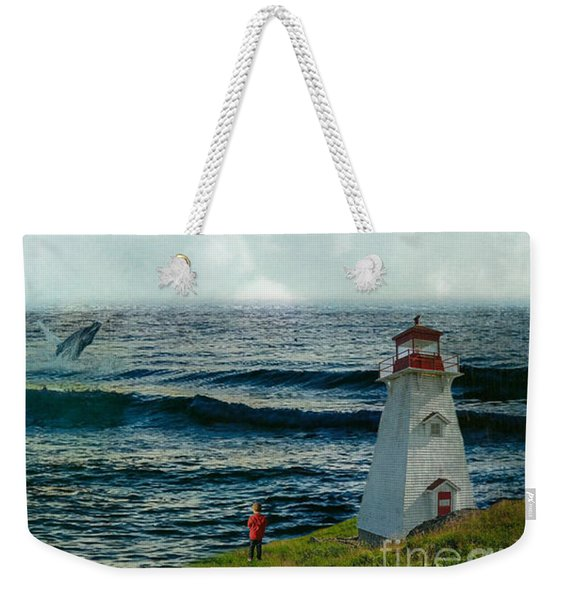 Whale Watch Weekender Tote Bag