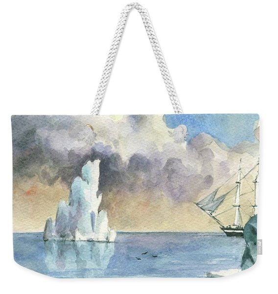 Whaler On Ice Weekender Tote Bag