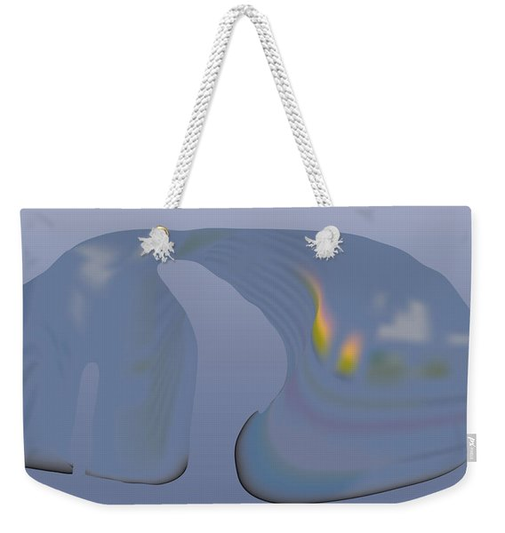 Whalescape Weekender Tote Bag