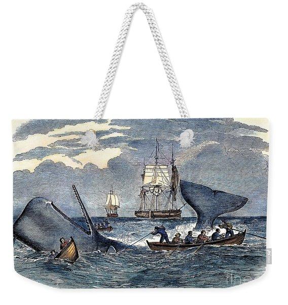 Whaling In South Pacific Weekender Tote Bag