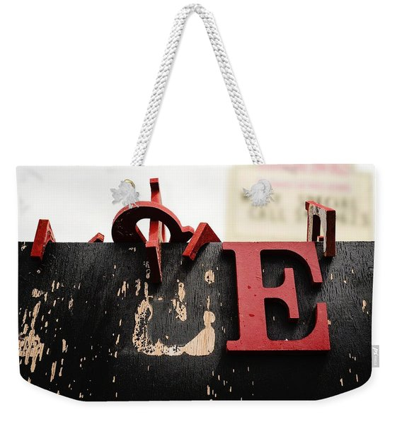 What Rhymes With E Weekender Tote Bag