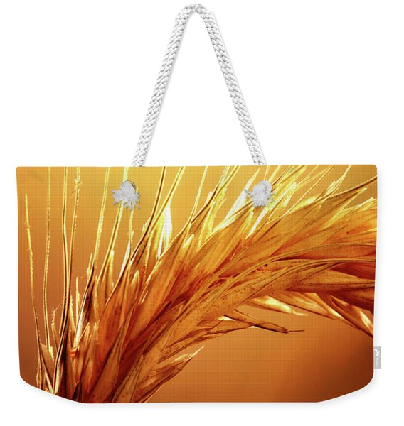 Wheat Close-up Weekender Tote Bag