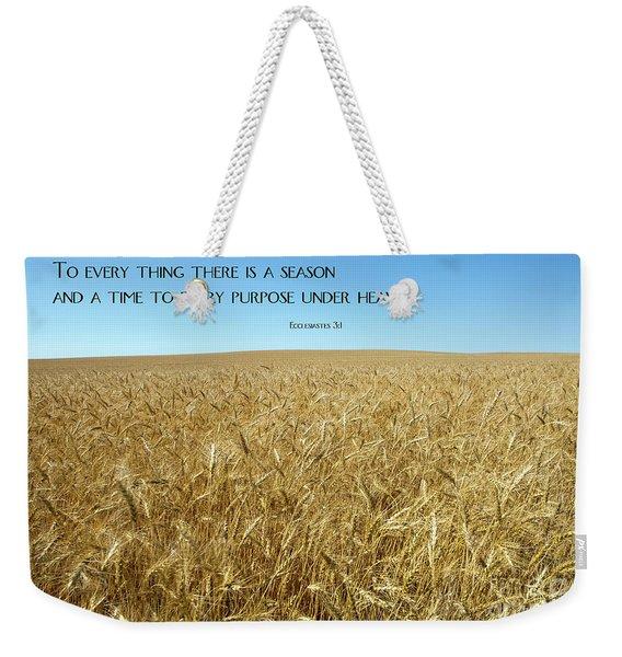 Wheat Field Harvest Season Weekender Tote Bag