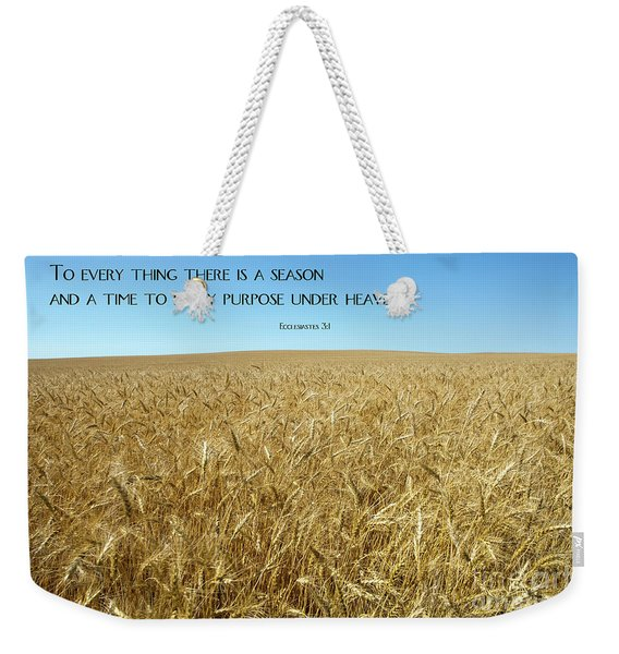 Wheat Field Harvest Season Weekender Tote Bag