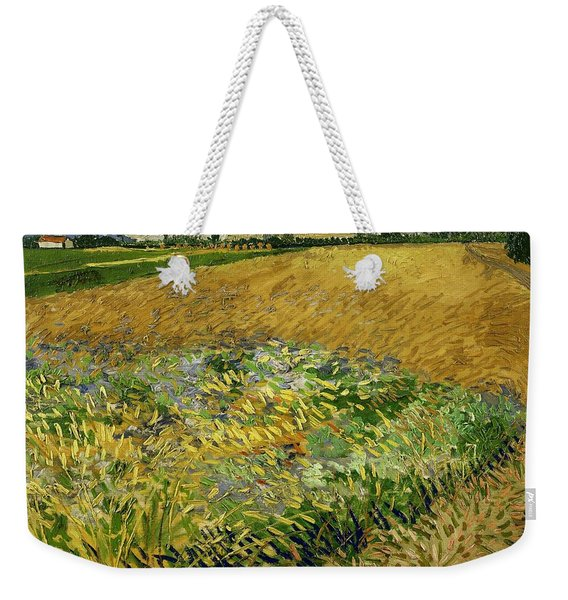 Wheat Field With Alpilles Foothills In The Background At Wheat Fields Van Gogh Series, By Vincent  Weekender Tote Bag
