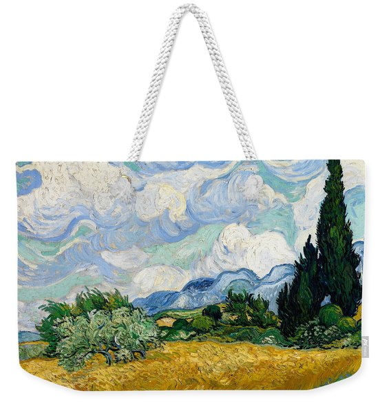 Wheat Field With Cypresses Weekender Tote Bag