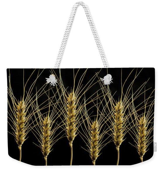 Wheat In A Row Weekender Tote Bag