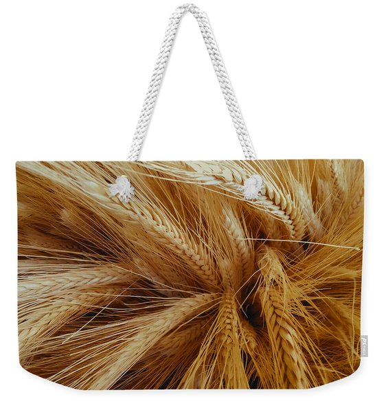 Wheat In The Sunset Weekender Tote Bag