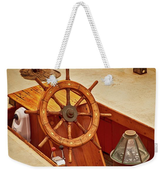 Wheel And Compass 2 Weekender Tote Bag