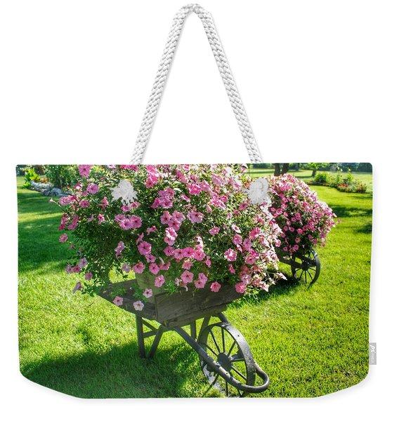 2004 - Wheel Barrow Full Of Flowers Weekender Tote Bag