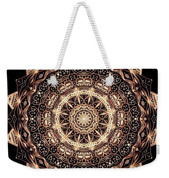 Wheel Of Life Mandala Weekender Tote Bag