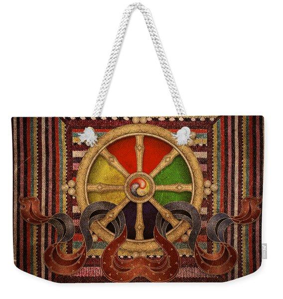 Wheel Of The Dharma Weekender Tote Bag