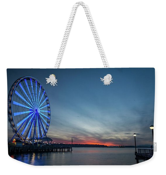 Wheel On The Pier Weekender Tote Bag