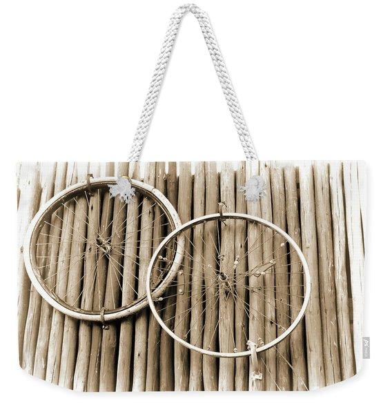Wheels On Bamboo Weekender Tote Bag