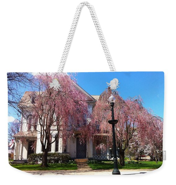 Wheeping Cherry House Weekender Tote Bag