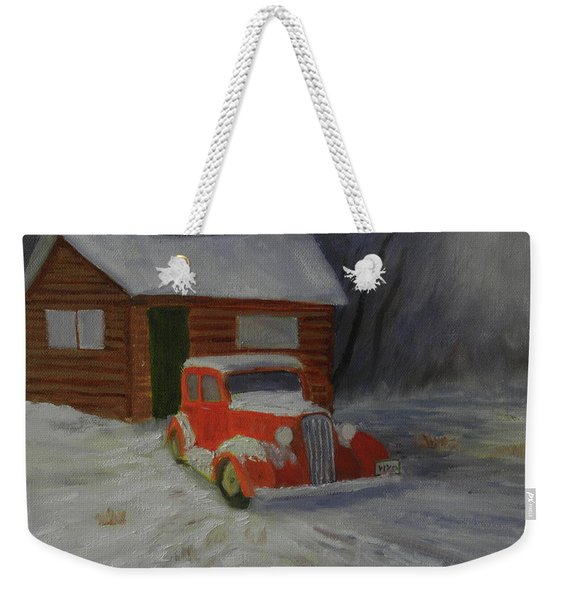 When Cars Were Big And Homes Were Small Weekender Tote Bag
