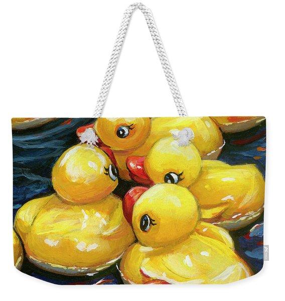 When Ducks Gossip Weekender Tote Bag