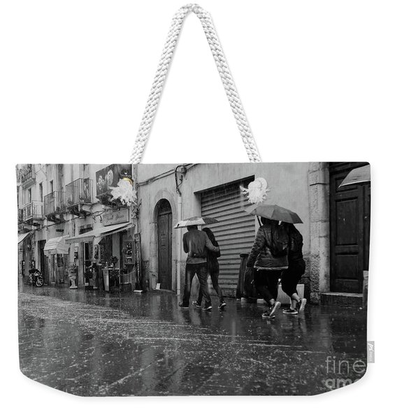 When It Rains It Pours Weekender Tote Bag