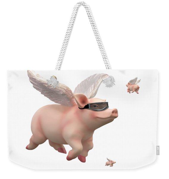 When Pigs Fly Weekender Tote Bag