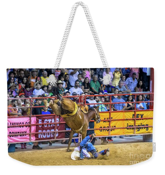 When Riding A Bucking Horse Turns Into Pain Weekender Tote Bag