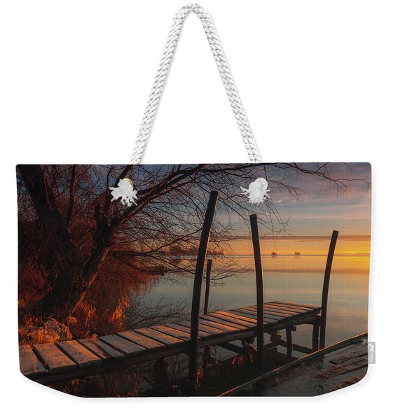 When The Light Touches The Shore Weekender Tote Bag