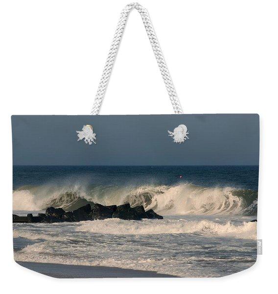 When The Ocean Speaks - Jersey Shore Weekender Tote Bag