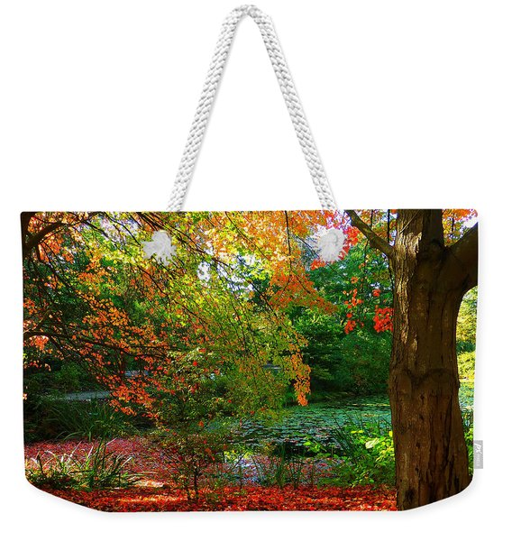 Where Autumn Lingers  Weekender Tote Bag
