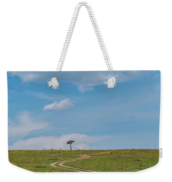 Weekender Tote Bag featuring the photograph Where Does It Lead To by Robin Zygelman