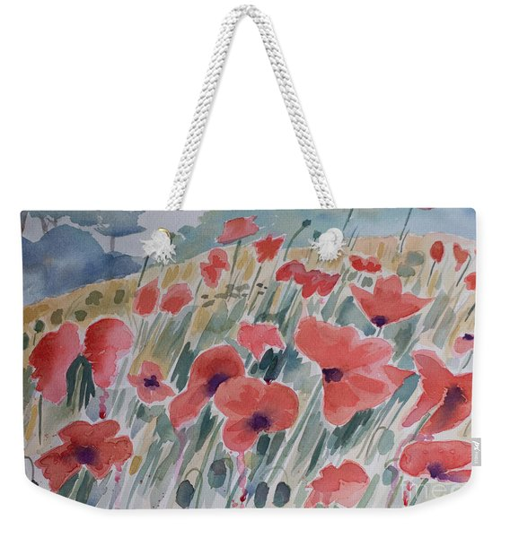 Where Poppies Grow Weekender Tote Bag