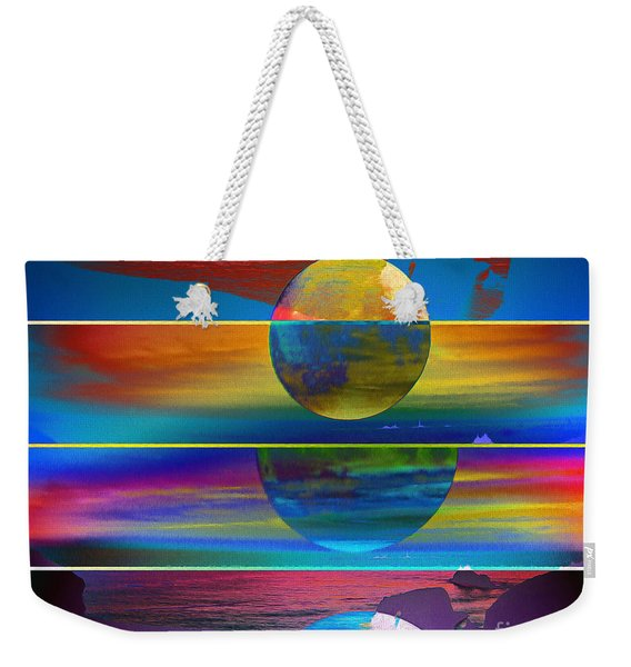 Where The Land Ends Weekender Tote Bag